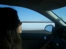 Driving through the Salt Flats
