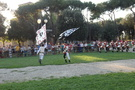 Flag twirling exhibition