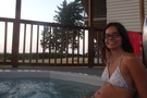 Hot tub and sunset